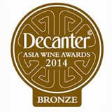 Bronze medal, Decanter Asia Wine Awards 2014