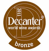 Bronze medal, decanter world wine awards 2011