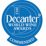 Commended, Decanter world Wine Awards 2013