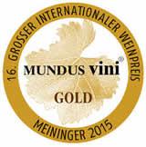 Gold medal, Mundus Vini 2015