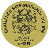 Medaille d'or, Challenge International du Vin 2013