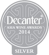 Silver medal, decanter asia wine awards 2014
